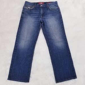 Lucky Brand 361 Vintage Straight Distressed Jeans